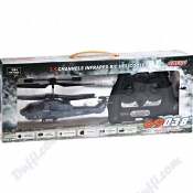 Mini Rechargeable RC Helicopter with Infrared Remote Control - FA-43573