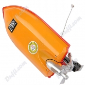 Mini 1:64 Scale Rechargeable Radio Remote Control Racing Boat Ship with Controller Red FB-23576