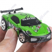 Mini Rechargeable RC Car with LED Light in Cola Style Box - Green FC-23773